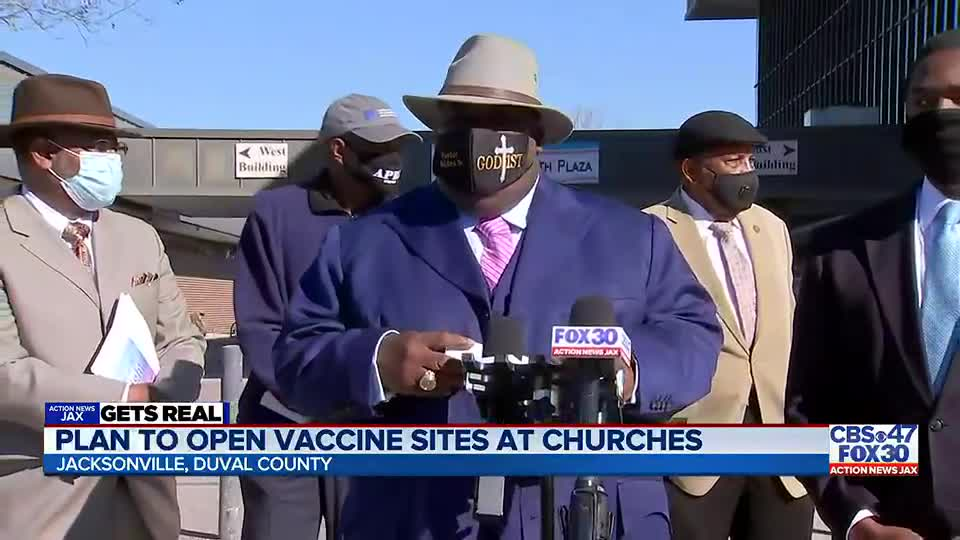 GETS REAL: Local pastors, former Jacksonville Mayor work to get COVID-19 vaccine sites in minority communities