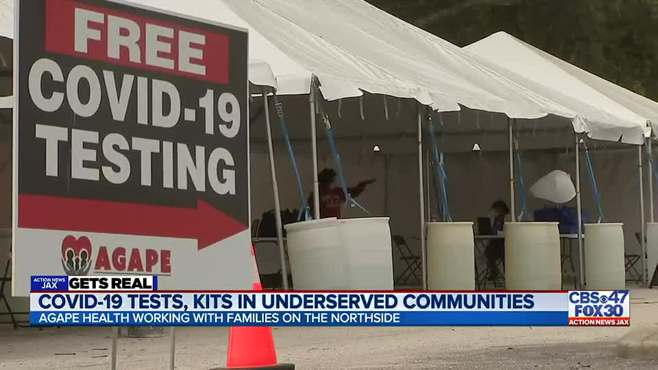 GETS REAL: COVID-19 testing site located in an underserved Jacksonville community receives big donation