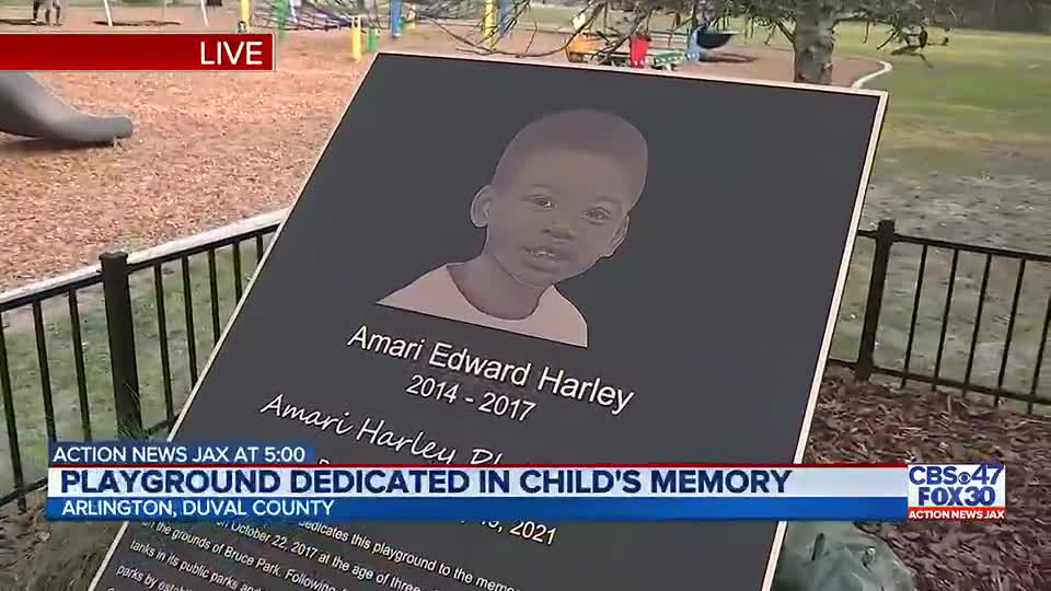 Amari Harley Playground in Arlington honoring toddler who tragically drowned in septic tank