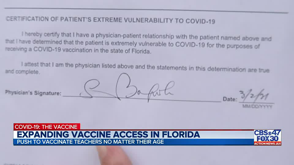 Are you extremely vulnerable to COVID-19 and want the vaccine? Have your doctor sign this form