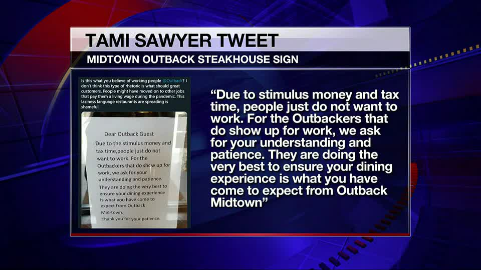 County commissioner calls out restaurant after sign to customers left on door