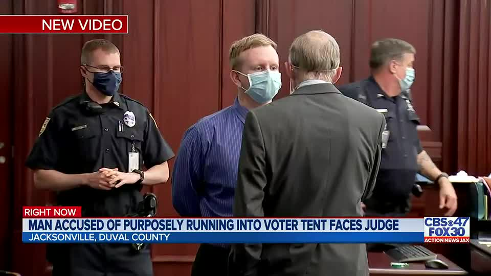 Gregory Timm trial: Woman says she had to jump out of the way when van plowed into GOP voter registration tent in Jacksonville in 2020
