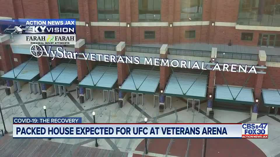 UFC sold-out, first full capacity event since the pandemic began in Jacksonville