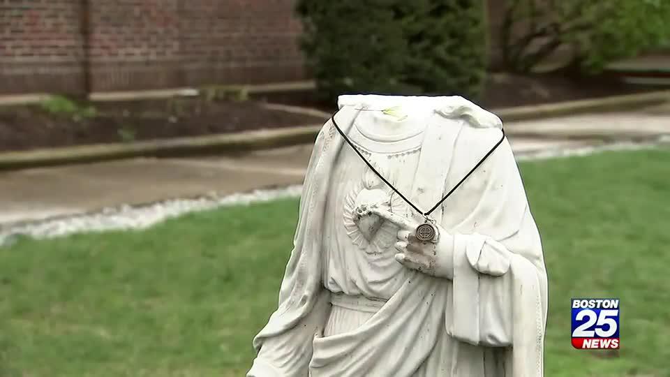 Statue of Jesus outside of Waltham church found broken, beheaded