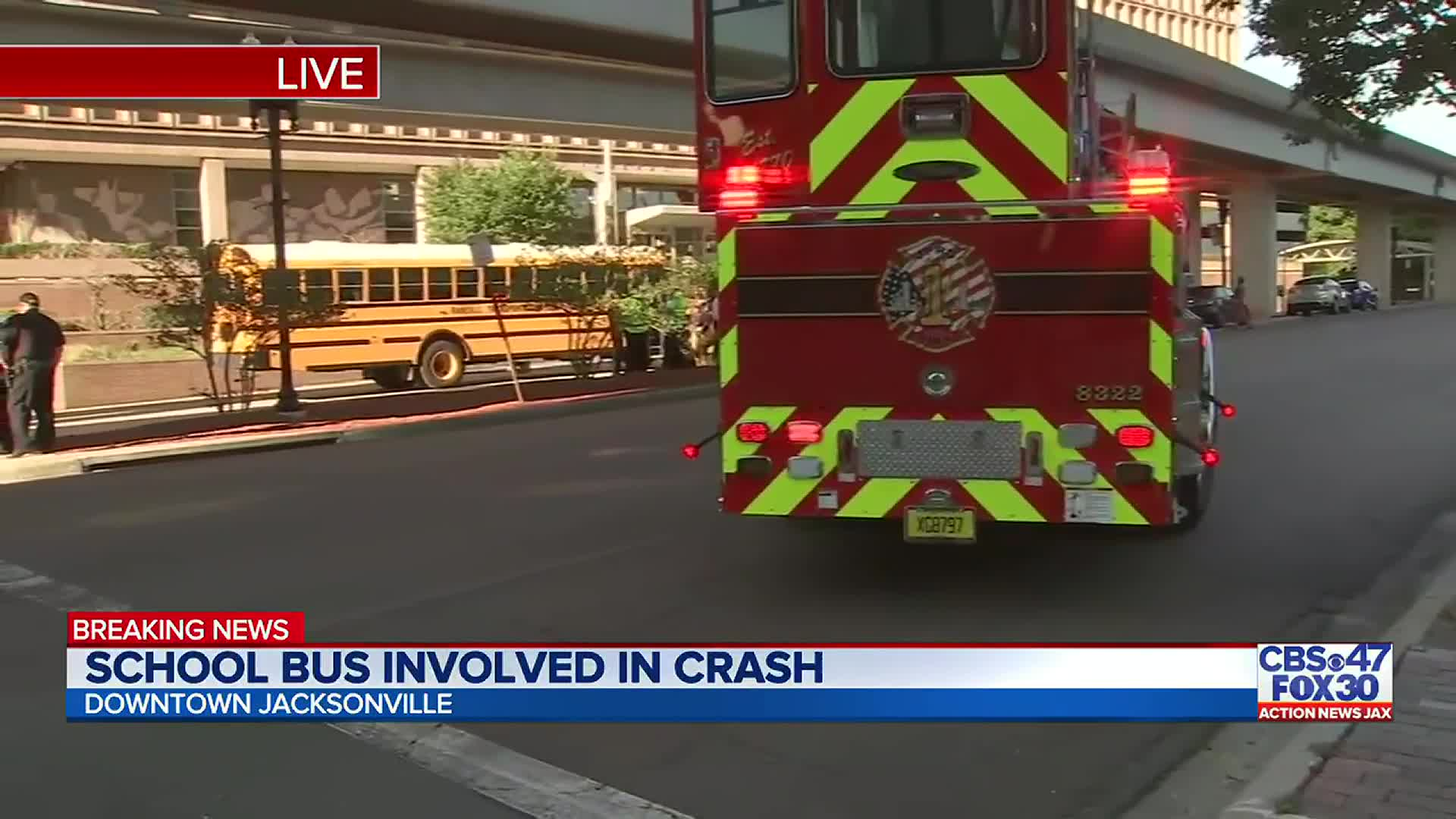 School bus involved in crash in downtown Jacksonville, multiple students taken to hospital