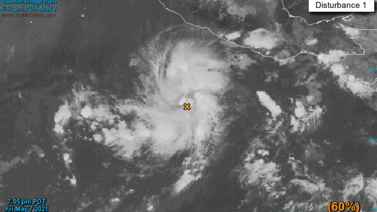First Tropical Depression of 2021 Hurricane Season Develops in North Pacific Ocean