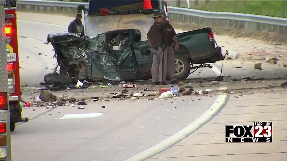 Two dead in rollover crash on Creek Turnpike in south Tulsa