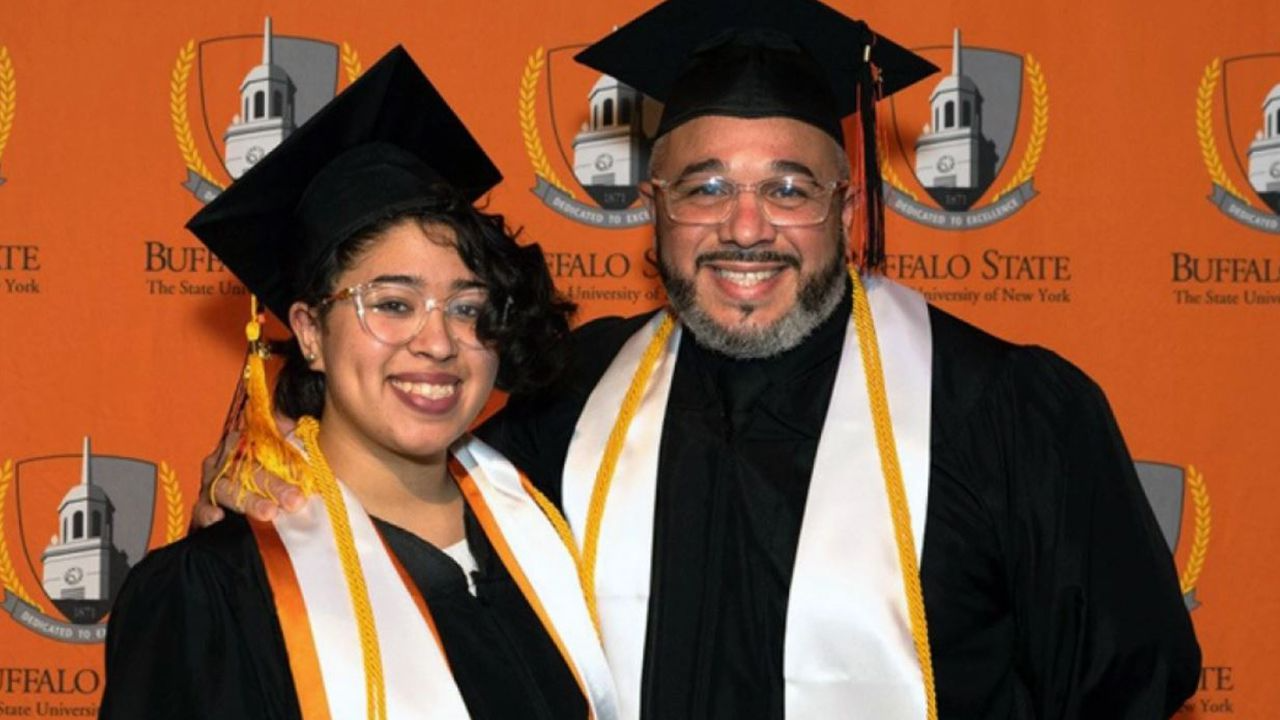 Father, daughter graduate together from New York college