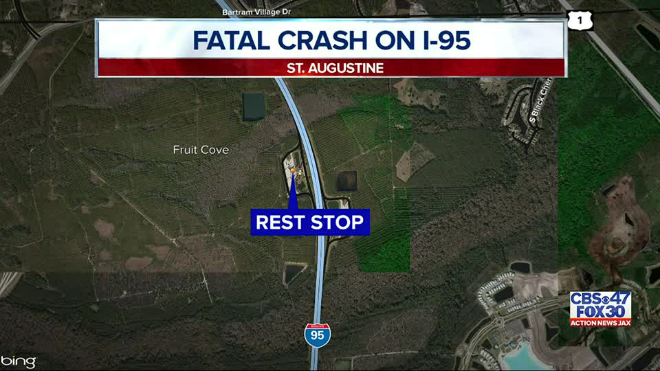 FHP: One dead after crash at rest stop area in St. Augustine