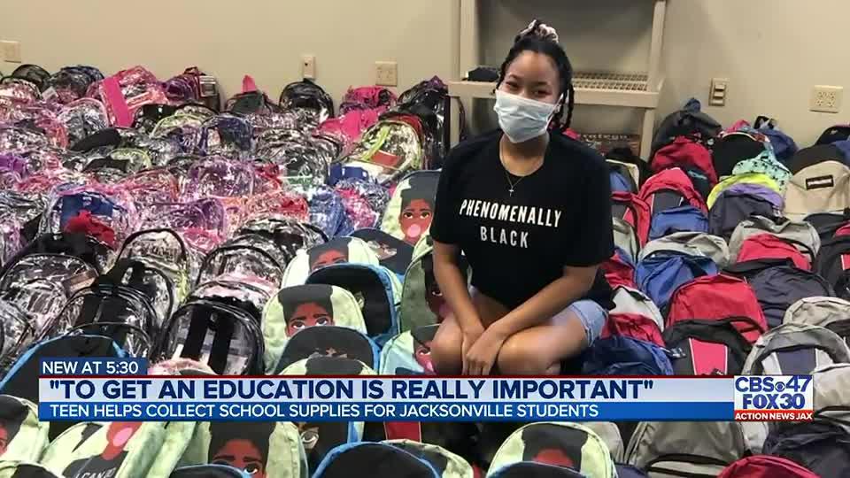 Jacksonville teen raises $11,000 to buy school supplies for kids in need
