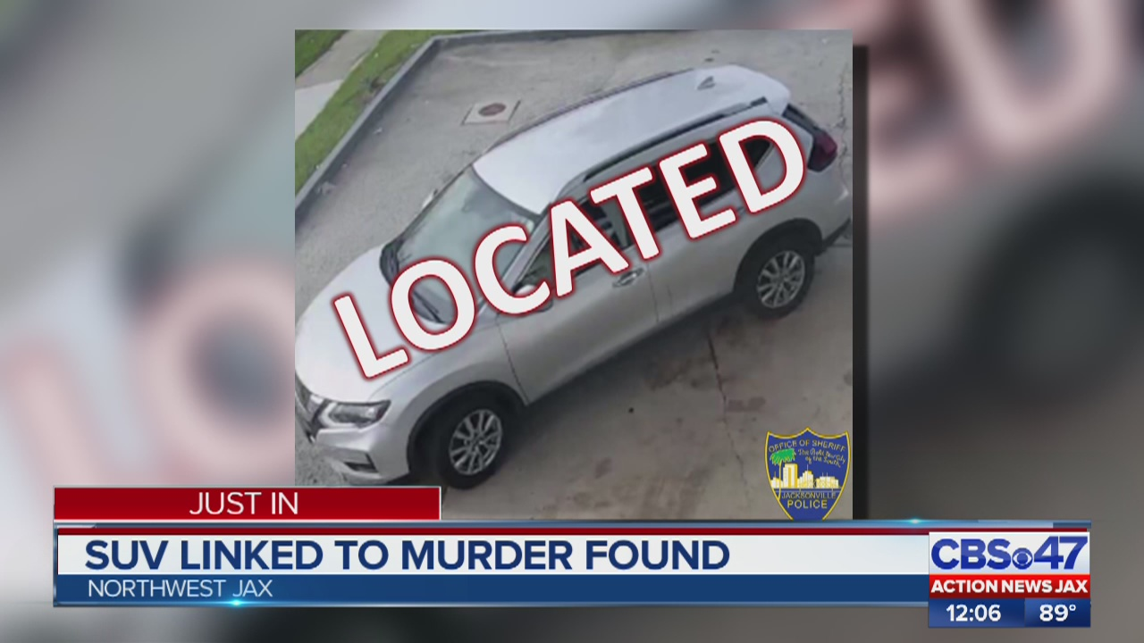 Police locate SUV connected to murder at Jacksonville gas station; JSO seeks identity of 2 people