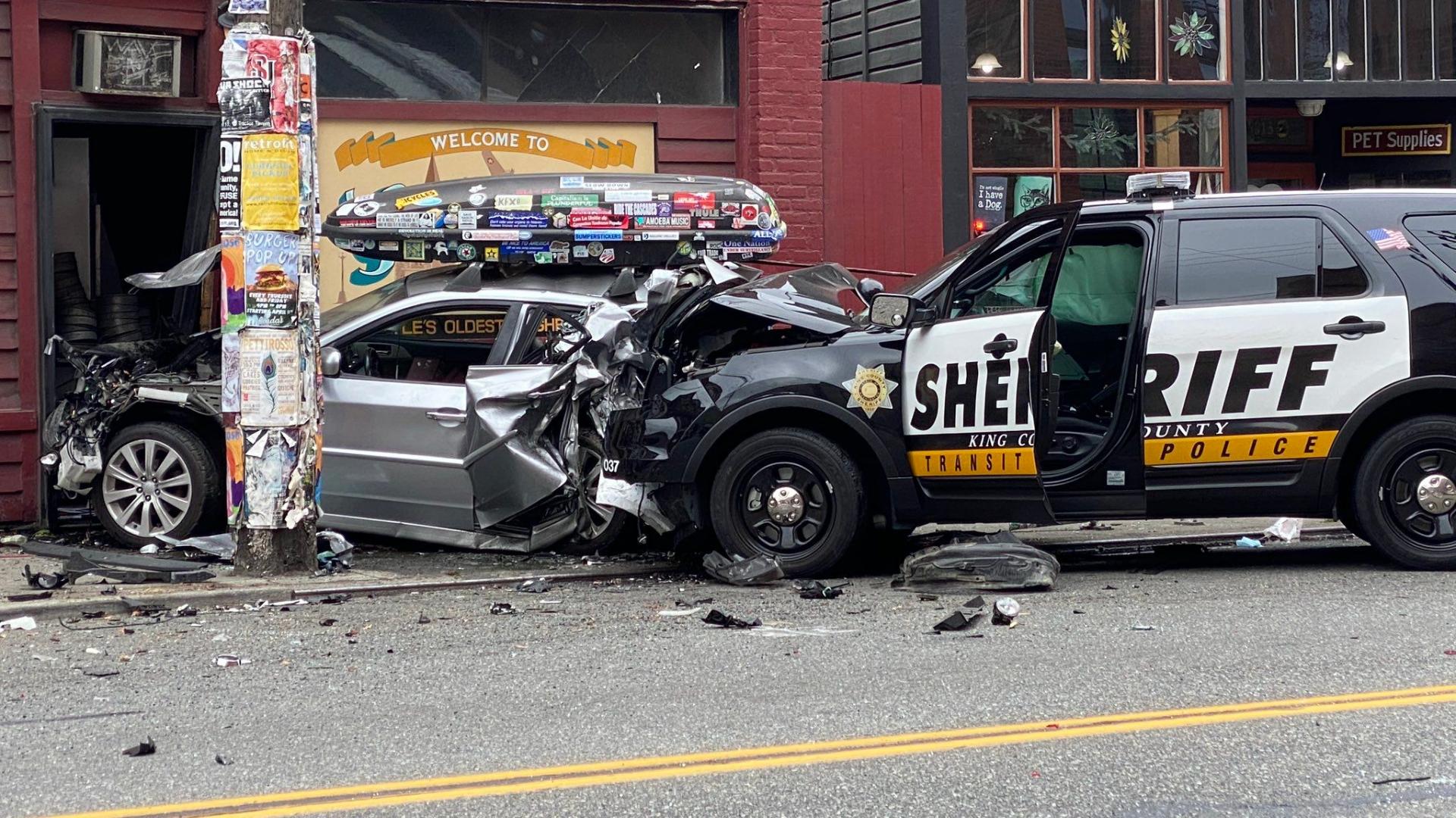 1 person dead, King County deputy hurt in South Seattle crash – KIRO 7 News  Seattle
