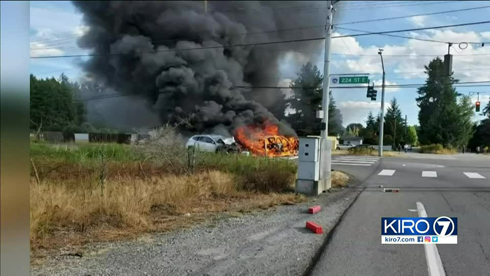 Mother who survived fiery crash with daughter shares story of harrowing rescue