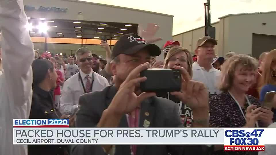 Attendees of President Trump's Jacksonville rally describe the experience