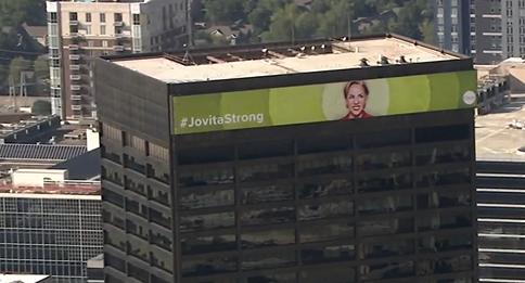 #JovitaStrong mural created by local artist lights up Atlanta skyline