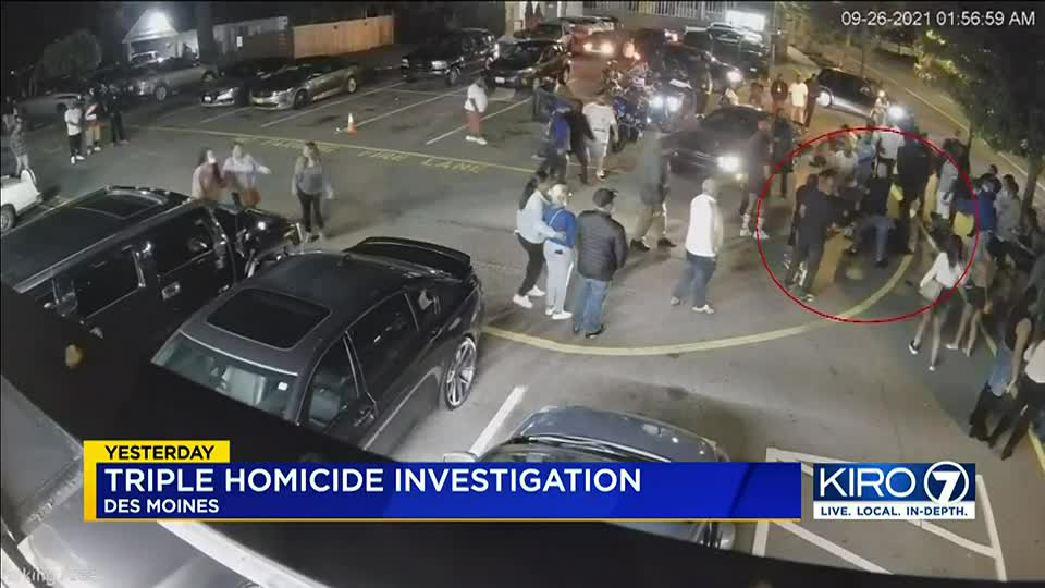 Surveillance video shows start of deadly shooting outside Des Moines nightclub