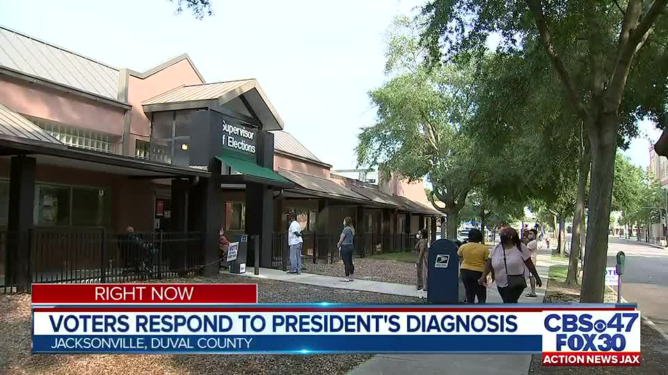 Jacksonville voters react to news of President Trump's hospitalization