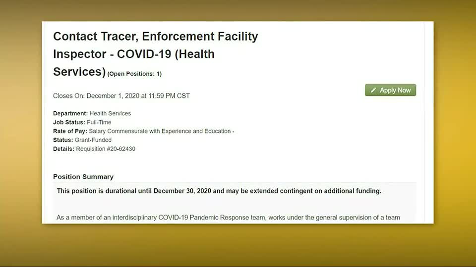 Shelby County Health Department looking to hire contact ...