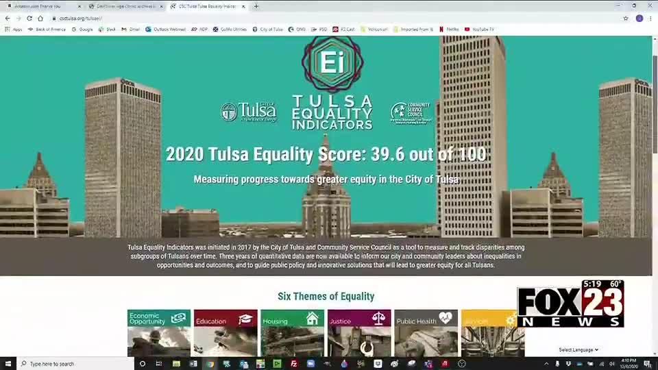 VIDEO: New website helping to break down equality indicators report for Tulsa